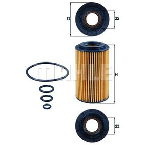 Ölfilter Ø: 64,3mm, Innendurchmesser 2: 31,4mm, Höhe: 115,0mm, Höhe 1: 105,1mm mit OEM-Nummer 112 184 04 25