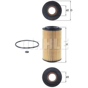 Ölfilter Ø: 64,3mm, Innendurchmesser 2: 31,4mm, Höhe: 115,0mm, Höhe 1: 105,1mm mit OEM-Nummer 477 2166
