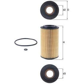 Ölfilter Ø: 64,3mm, Innendurchmesser 2: 31,4mm, Höhe: 115,0mm, Höhe 1: 105,1mm mit OEM-Nummer 09117321