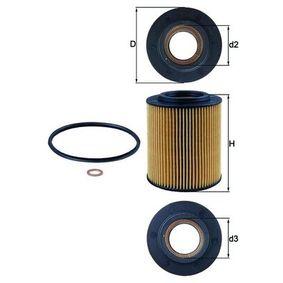 Ölfilter Ø: 83,5mm, Innendurchmesser 2: 42,6mm, Höhe: 104,5mm, Höhe 1: 94,0mm mit OEM-Nummer 7509430