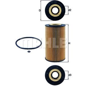 Ölfilter Ø: 82,5mm, Innendurchmesser 2: 34,5mm, Höhe: 149,5mm, Höhe 1: 144,5mm mit OEM-Nummer A 6281800109