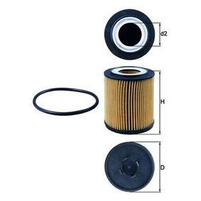 Ölfilter Ø: 62,2mm, Innendurchmesser 2: 28,0mm, Höhe: 77,25mm, Höhe 1: 66,35mm mit OEM-Nummer 5650316