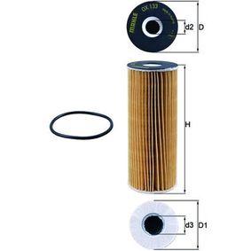 KNECHT  OX 133D Ölfilter Ø: 62,0mm, Innendurchmesser 2: 16,0mm, Höhe: 157,5mm