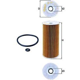 Ölfilter Ø: 53,0mm, Innendurchmesser 2: 16,0mm, Höhe 1: 116,1mm mit OEM-Nummer 6401800009