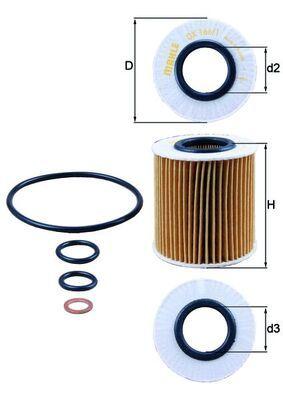 Motorölfilter OX 166/1D KNECHT OX1661DECO in Original Qualität