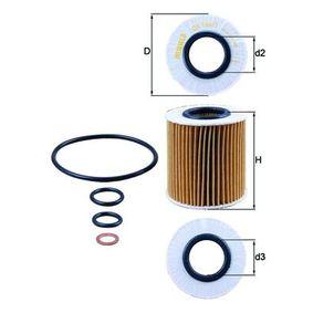 Ölfilter Innendurchmesser 2: 31,5mm, Höhe: 80,3mm, Höhe 1: 76,4mm mit OEM-Nummer 11 42 7 619 319