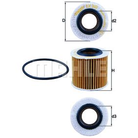Polo 6R 1.2 Ölfilter KNECHT OX 360D (1.2 Benzin 2013 CJLA)