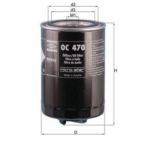 Ölfilter Ø: 93,2mm, Innendurchmesser 2: 62,0mm, Höhe: 150,5mm mit OEM-Nummer 068 115 561F