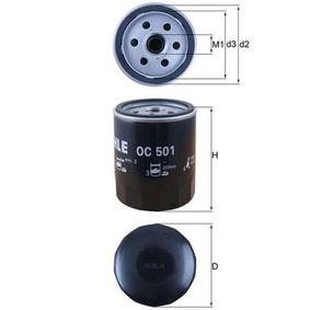 KNECHT  OC 501 Filtre à huile Ø: 76,0mm, Diamètre intérieur 2: 62,0mm, Hauteur: 93,5mm