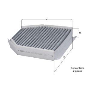 Filter, Innenraumluft Breite: 213,0mm, Höhe: 40,0mm mit OEM-Nummer 230 830 04 18