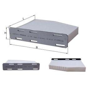 Filter, Innenraumluft Länge: 219mm, Breite: 286mm, Höhe: 57mm mit OEM-Nummer 1K1819007