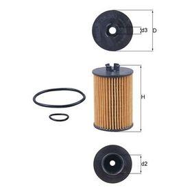 Ölfilter Ø: 57,1mm, Innendurchmesser 2: 27,0mm, Höhe: 89,5mm, Höhe 1: 78,0mm mit OEM-Nummer A 2661800009