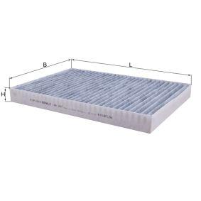 Filter, Innenraumluft Länge: 309mm, Breite: 213mm, Höhe: 30mm mit OEM-Nummer 04596501AC