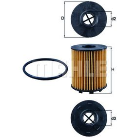 Filtro olio Ø: 65,0mm, Ø: 65,0mm, Diametro interno 2: 25mm, Diametro interno 2: 25mm, Alt.: 82mm con OEM Numero 95516104