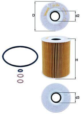 KNECHT  OX 254D2 Ölfilter Ø: 83,0mm, Ø: 83,0mm, Innendurchmesser 2: 29mm, Höhe: 108mm, Höhe 1: 108mm