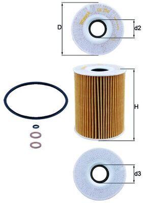 KNECHT  OX 254D3 Ölfilter Ø: 83,0mm, Ø: 83,0mm, Innendurchmesser 2: 29mm, Höhe: 108mm, Höhe 1: 108mm