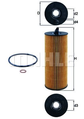 KNECHT  OX 361/4D Ölfilter Ø: 63,5mm, Ø: 63,5mm, Innendurchmesser 2: 26mm, Innendurchmesser 2: 26mm, Höhe: 172mm