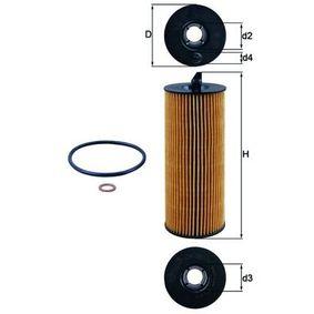 Ölfilter Ø: 63,5mm, Innendurchmesser 2: 25,55mm, Höhe: 172,0mm, Höhe 1: 153,0mm mit OEM-Nummer 11 42 7 805 707