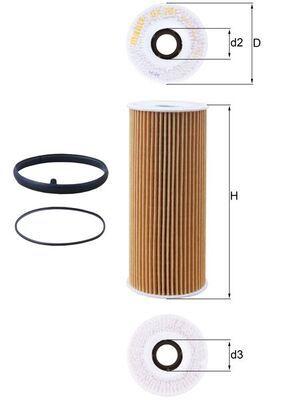 KNECHT  OX 381D Ölfilter Ø: 63,5mm, Ø: 63,5mm, Innendurchmesser 2: 31mm, Innendurchmesser 2: 31mm, Höhe: 155mm