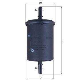 Kraftstofffilter Höhe: 142mm mit OEM-Nummer 96 478 677 80