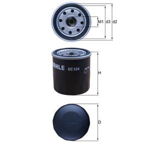 Oil Filter Ø: 65,5mm, Outer diameter 2: 63mm, Ø: 65,5mm, Inner Diameter 2: 55mm, Inner Diameter 2: 55mm, Height: 77mm with OEM Number 1560001010