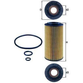 Filtre à huile Ø: 64,3mm, Diamètre intérieur 2: 31,4mm, Hauteur: 136,0mm, Hauteur 1: 126,1mm avec OEM numéro 6031840025