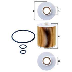 Ölfilter Ø: 73,0mm, Innendurchmesser 2: 31,15mm, Höhe: 92,0mm, Höhe 1: 82,0mm mit OEM-Nummer 15400-PLZ-D00