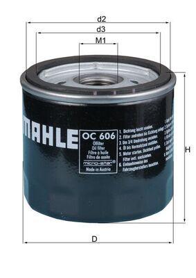 KNECHT  OC 606 Ölfilter Ø: 76,0mm, Ø: 76,0mm, Höhe: 74mm