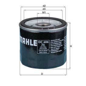 Ölfilter Ø: 76,0mm, Innendurchmesser 2: 62,0mm, Höhe: 73,5mm mit OEM-Nummer 5008 720