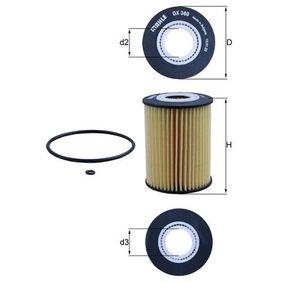 Filtro olio (OX 380D) per per Lampadina Luce di Posizione Posteriore JEEP GRAND CHEROKEE III (WH, WK) 3.0 CRD 4x4 dal Anno 06.2005 218 CV di KNECHT