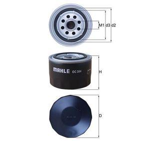 Filtre à huile Ø: 86,5mm, Diamètre intérieur 2: 62,0mm, Hauteur: 74,0mm avec OEM numéro 21051012005