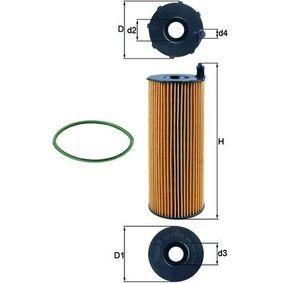 KNECHT Ölfilter OX 196/3D für AUDI Q7 (4L) 3.0 TDI ab Baujahr 11.2007, 240 PS