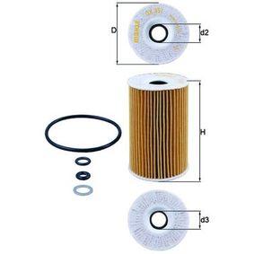 Oil Filter Ø: 65,0mm, Ø: 65,0mm, Inner Diameter 2: 20mm, Inner Diameter 2: 20mm, Height: 104mm with OEM Number 26320 3F100