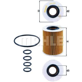Ölfilter Ø: 72,8mm, Innendurchmesser 2: 31,5mm, Höhe: 92,0mm, Höhe 1: 88,1mm mit OEM-Nummer 98 018 448