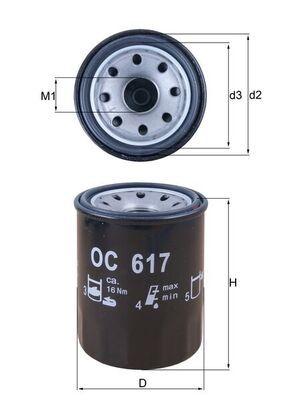 KNECHT  OC 617 Ölfilter Ø: 65,0mm, Ø: 65,0mm, Höhe: 86mm