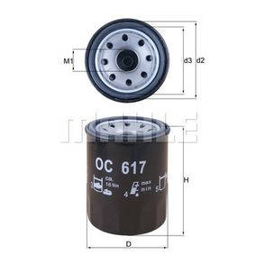KNECHT  OC 617 Oil Filter Ø: 65,5mm, Inner Diameter 2: 52,4mm, Height: 86,5mm