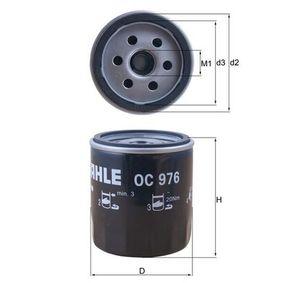 Filtro olio (OC 976) per per Lampadina Luce Posteriore di Stop FIAT SCUDO Furgonato (220L) 2.0 JTD 16V dal Anno 05.1999 109 CV di KNECHT