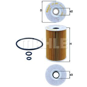 Oil Filter Ø: 65,0mm, Inner Diameter 2: 22,0mm, Height 1: 101,0mm with OEM Number 03L115466