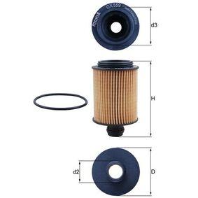Ölfilter Ø: 64,0mm, Ø: 64,0mm, Innendurchmesser 2: 25mm, Innendurchmesser 2: 25mm, Höhe: 105mm mit OEM-Nummer 6 50 231