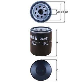 Ölfilter Ø: 76,0mm, Außendurchmesser 2: 72mm, Ø: 76,0mm, Innendurchmesser 2: 62mm, Innendurchmesser 2: 62mm, Höhe: 94mm mit OEM-Nummer 91 444 45