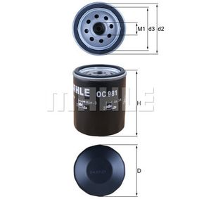 Filtre à huile Ø: 76,0mm, Diamètre intérieur 2: 62,0mm, Hauteur: 93,5mm avec OEM numéro 7496144