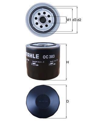 KNECHT  OC 383 Ölfilter Ø: 93,2mm, Ø: 93,2mm, Höhe: 96mm