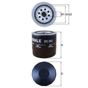 Filtre à huile Ø: 93,2mm, Diamètre intérieur 2: 62,0mm, Hauteur: 96,0mm avec OEM numéro 4160703