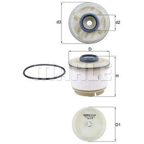 Fuel filter Height: 77mm with OEM Number 233900L040