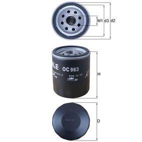 Ölfilter Ø: 76,0mm, Innendurchmesser 2: 62,0mm, Höhe: 93,5mm mit OEM-Nummer 46 805 832