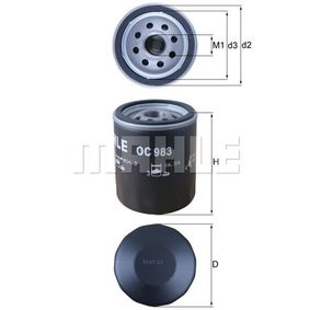 Oil Filter Ø: 76,0mm, Inner Diameter 2: 62,0mm, Height: 93,5mm with OEM Number 50008507