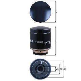 Ölfilter Ø: 76,0mm, Außendurchmesser 2: 72mm, Ø: 76,0mm, Innendurchmesser 2: 61mm, Innendurchmesser 2: 61mm, Höhe: 98mm mit OEM-Nummer 03C 115 561 J