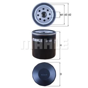 Oil Filter Ø: 76,0mm, Outer diameter 2: 72mm, Ø: 76,0mm, Inner Diameter 2: 62mm, Inner Diameter 2: 62mm, Height: 80mm with OEM Number AM101207