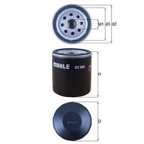 Filtre à huile Ø: 76,0mm, Diamètre intérieur 2: 62,0mm, Hauteur: 80,0mm avec OEM numéro 5020700025