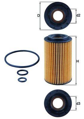 Motorölfilter OX 153/7D2 KNECHT 000000000000000000000OX1537D2ECO in Original Qualität